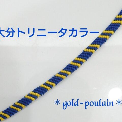No.13【大分トリニータカラー】ハンドメイド ミサンガ アンクレット