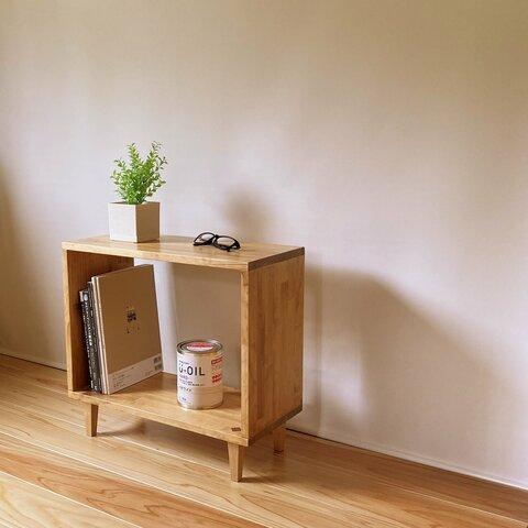 『Hakobo01-ウォルナットカラー』  サイドテーブル オープンラック  ボックス 本棚 ラック 棚