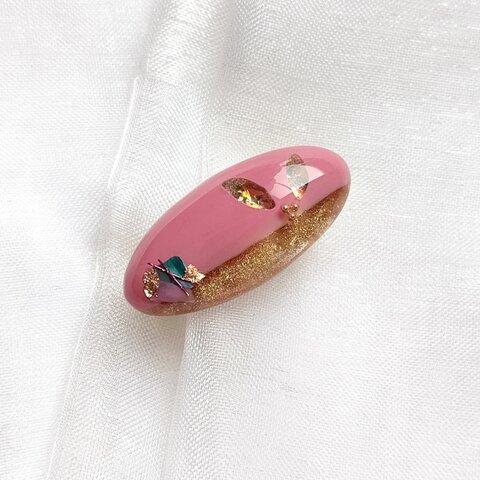 ❮一点物❯大人ピンクのブローチ