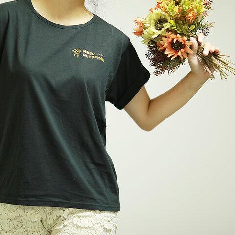 ロールアップ Tシャツ ディープブラック