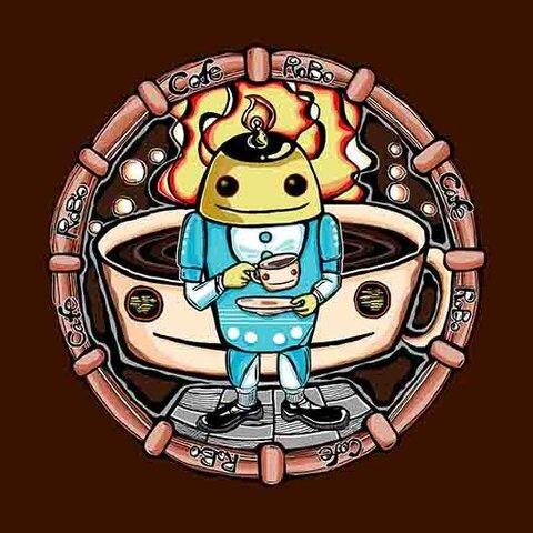 ロボカフェ(ROBO CAFE)★缶バッチ ★