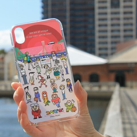 iPhoneケース 「コベピポ ワインレッド」 神戸