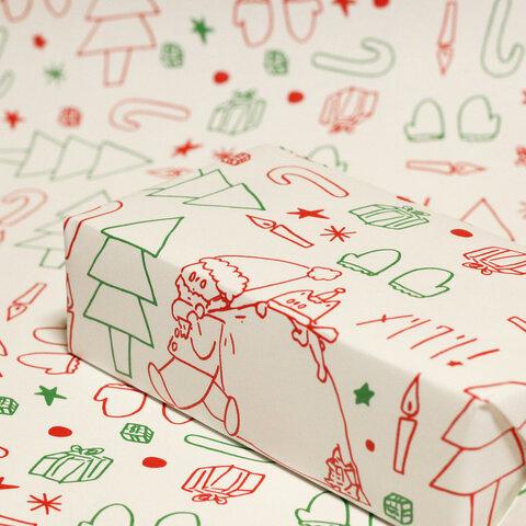 ラッピングペーパー「クリスマス」