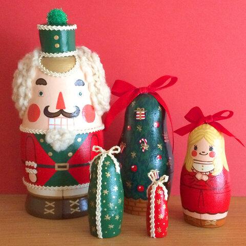 プレゼントに♪くるみ割り人形のマトリョーシカ