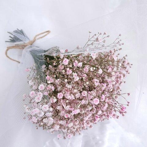 ⭐️カスミソウブーケ 桜ピンク ♪魅力的でボリューム たぷり大好評     🌟