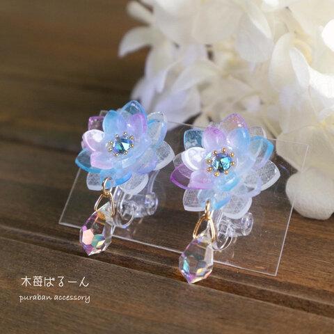氷の花ピアス