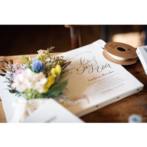 ウェルカムボート ブーケ 結婚式 ウェディング  結婚祝い スワッグ キャンバス ナチュラル フラワー 花