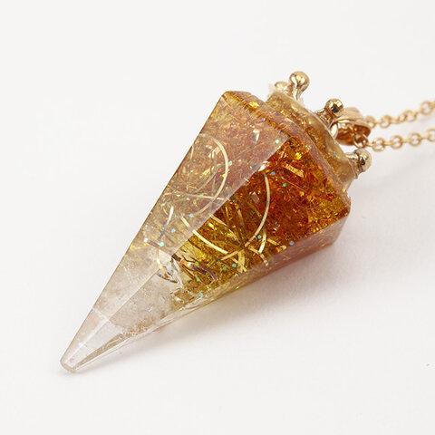 神秘の六角錐 オルゴナイト△ペンダント