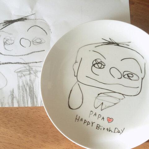 お子様の描いた絵をお皿に♪