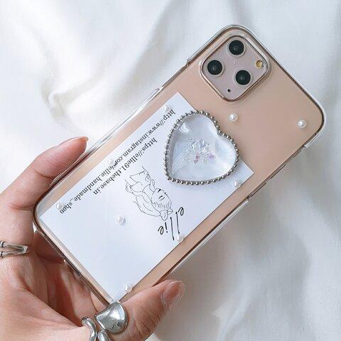 クリアハートiPhoneケース