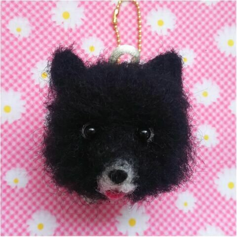 ちまっと可愛い♡羊毛ポメラニアンのキーホルダー♡犬