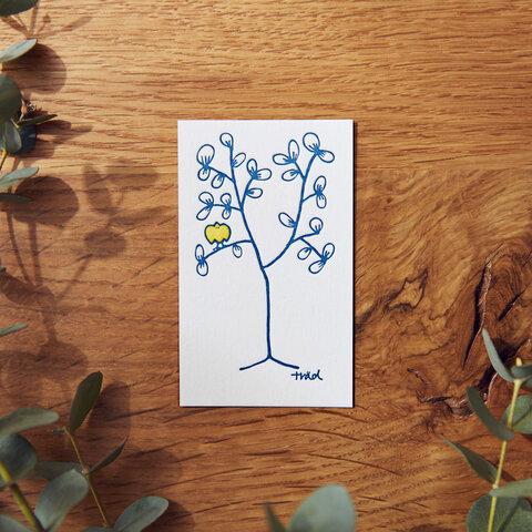 活版印刷メッセージカード träd 5枚セット
