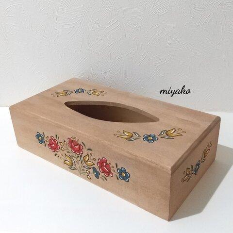 レトロ柄・ティッシュボックス