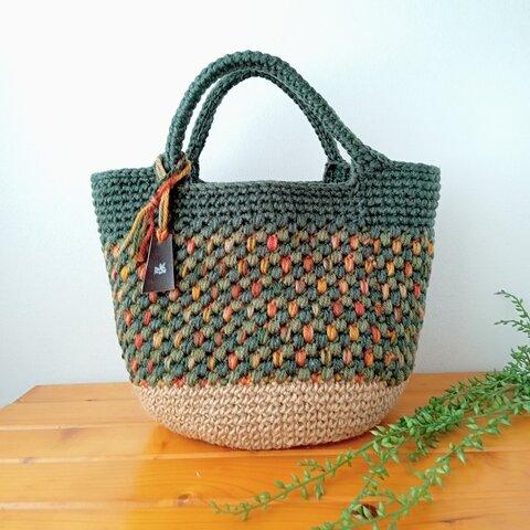 【新作】Autumn Forest 毛糸のバッグ