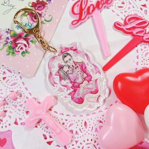 アクリルキーホルダー     ルジェくん❤フィオちゃん Valentines Collection