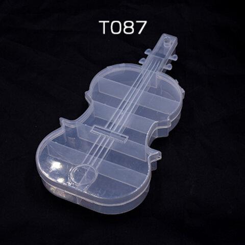 T087   3個   アクセサリーケース ヴァイオリン 21.5×11×2.5cm ※ネコポス不可 3×【1ヶ】