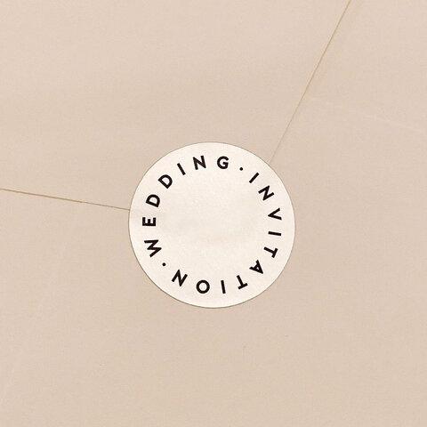 new! オリジナル シルバー封緘シール 「WEDDING INVITATION」 結婚式 招待状