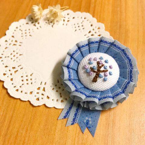 tree刺繍ミニロゼット