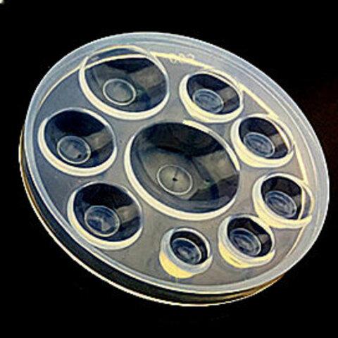 シリコンモールド (9サイズ) カボション型 半球 シリコン型 レジン モールド