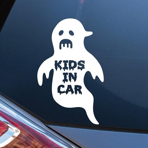 おばけ KIDS IN CAR キッズインカー ステッカー シール おしゃれ かわいい キッズ 車 カーステッカー カーサイン  子供 ギフト プレゼント 500円 送料無料