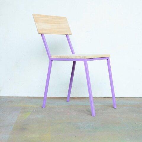 color steel chair purple