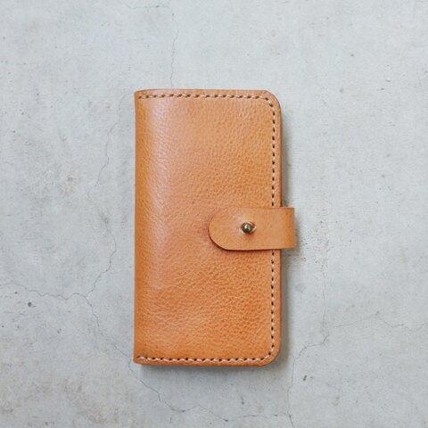 全機種可能 iPhone12mini手帳型ケース イタリアンレザー【受注製作】
