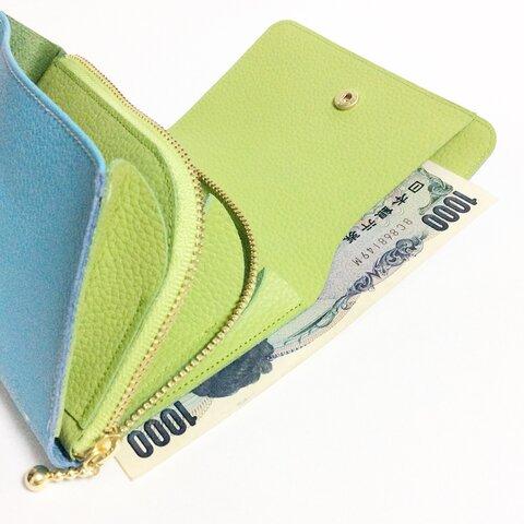 22色選べる バイカラー お札が別のお財布