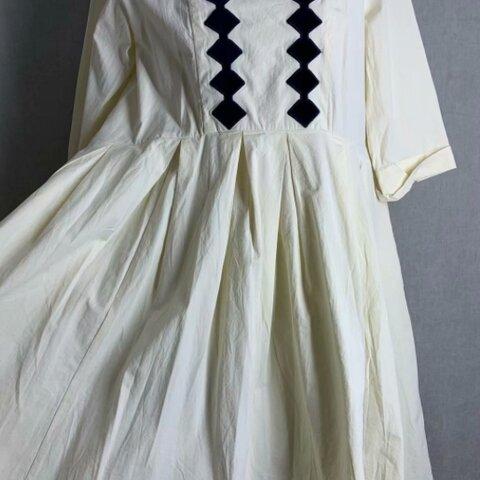 【受注制作】ウォッシュドコットンゆったりドレス 半袖ワンピース