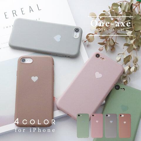 【送料無料】 ハート iPhone 12 se se2 11 pro xr カバー ケース くすみカラー かわいい おしゃれ シンプル mini pro max x xs 7 8