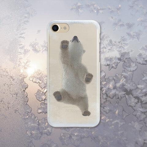 【人気商品】Baby Polar Bear  クリアソフト ケース   [ iPhone5~iPhone13 mini/ 13/ 13 Pro/ 13 Pro Max & Samsung ]
