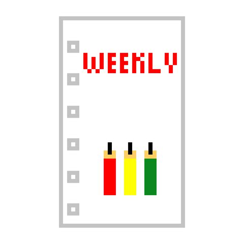 システム手帳 ミニ6穴 リフィル ミミちゃん 週間 ウィークリー AMPM 12週分 ドット絵