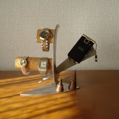 アクセサリースタンド 三日月腕時計、携帯電話インテリアスタンド リングスタンド  No.81114