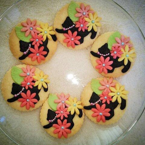 再販 カラークッキー ねこ【6枚set】