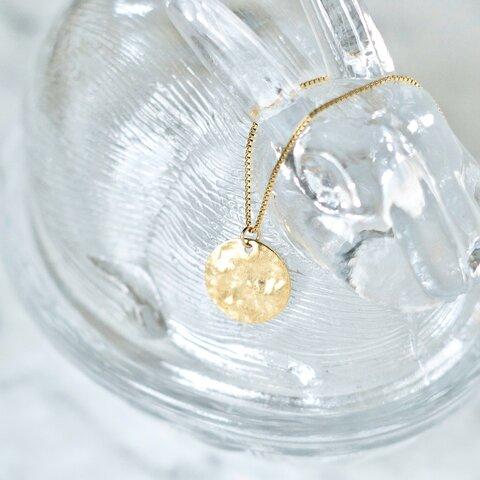 満月の14kgfネックレス メンズ コインネックレス ゴールド シンプル 金属アレルギー対応 コイン ネックレス  つけっぱなし ロングネックレス ペンダント