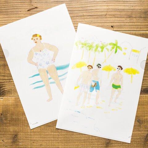hawaiian beach クリアファイル A4