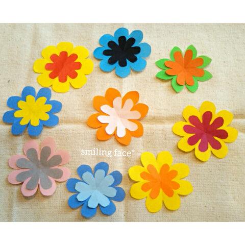 小さめ!自由な色と形のお花さん