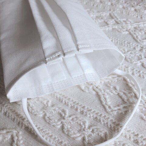 ◆matibari◆マスクカバーSサイズ◆綿ポリ地◆ホワイト