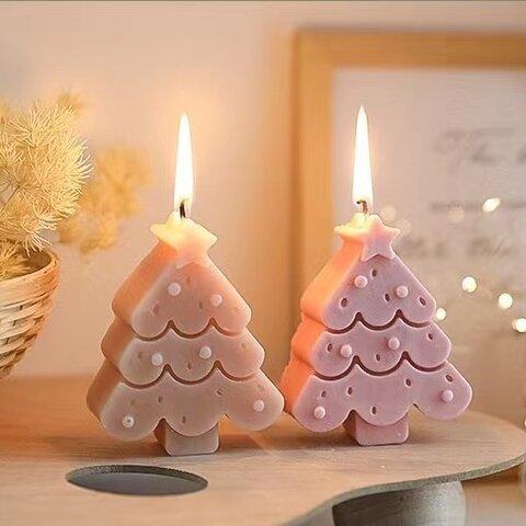 1p Nart Candle 五芒星クリスマスツリーのモールド シリコンモールド キャンドルモールド 五芒星 クリスマスツリー