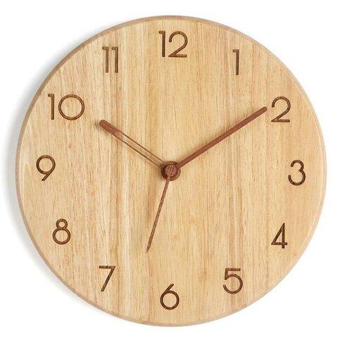 木の壁掛け時計 ウォールクロック