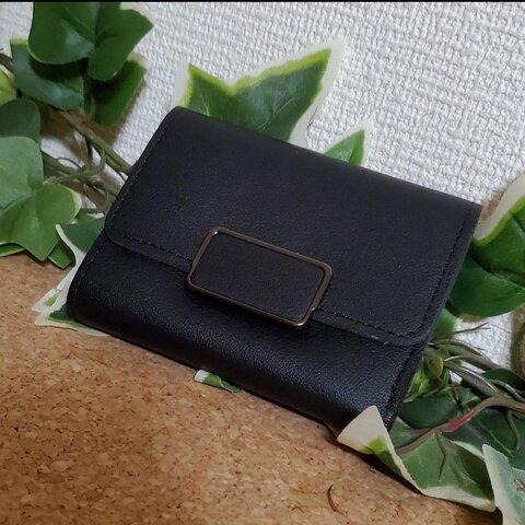 セール品 コンパクトウォレット ミニウォレット ブラック シンプルウォレット