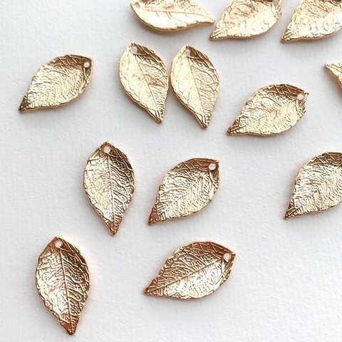 10個【 AL-9】リーフパーツ  葉っぱ チャーム leaf