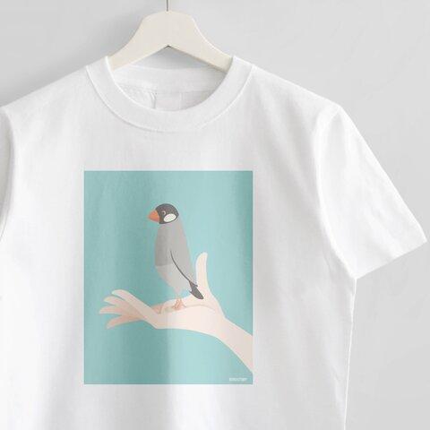 Tシャツ(手タクシー / ノーマル文鳥)