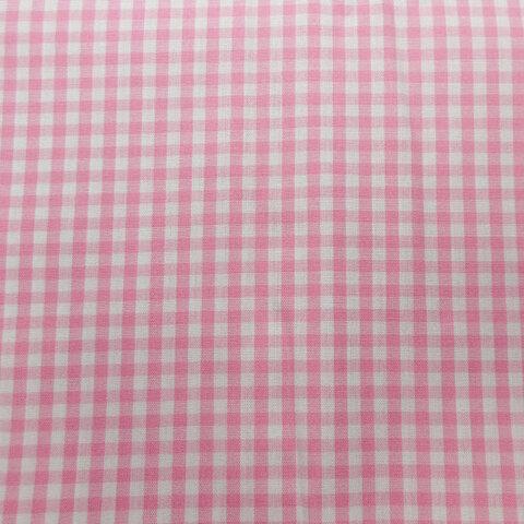 ピンクのチェック生地