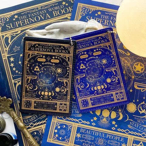 空想天体古書Ⅰ・月の満ち欠け パスケース(小) / 定期入れ IDカードケース ICカードケース