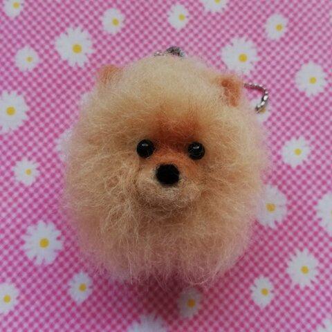 ♡ちまっと可愛い♪羊毛ポメラニアンちゃんキーホルダー♡犬