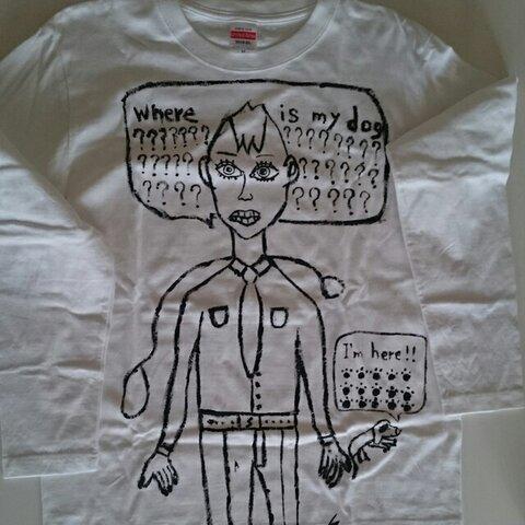 手描きアートTシャツ