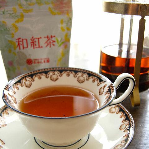 国産無農薬紅茶 和紅茶 約100g 2袋入(1袋約50g×2)玉緑茶製法 *ゆうパケット便送料込