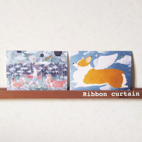 コーギーのポストカード2枚セット