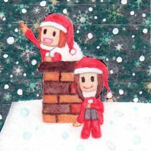 サンタさん ポストカード3枚セット✨🎄✨(クリスマスカード)