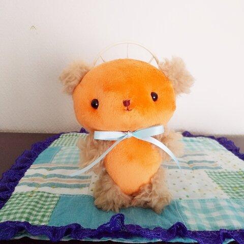 約13㎝ ふんわりくまさん(オレンジ×ライトベージュ)